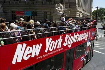 Emeletes busz New York