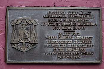 Mindszenty-emléktábla, New York