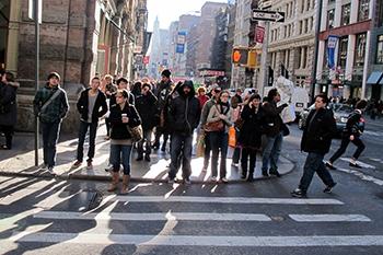 New York gyalogosok