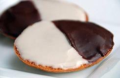 fekete és fehér süti