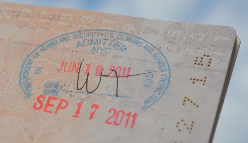útlevél amerikai pecsét
